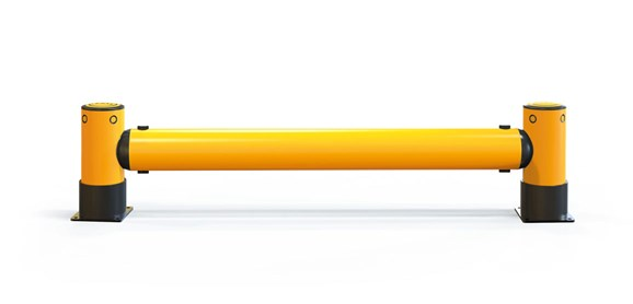 iflex-rackend-barrier_yellowpost_front