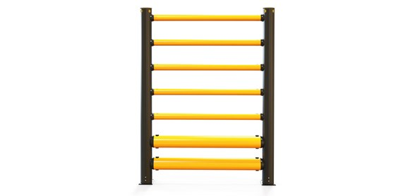 iflex-high-level-double-traffic-barrier-plus-5-rails_front