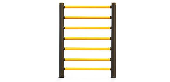 iflex-high-level-pedestrian-7-rail-barrier_front